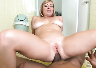 Interracial anal with fat boobed Adrianna Nicole