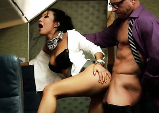Asa Akira gets naughty upon a foursome