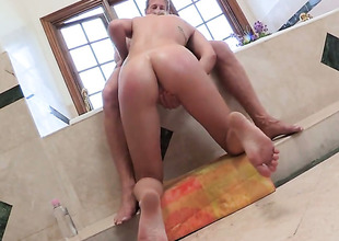Amazingly hot seductress Lia Lor has a nice time playing respecting cum loaded dick