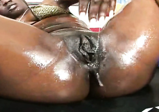 Brunette Casandra with big mambos added to smooth pussy is bodily as hell in lesbian act with Jay