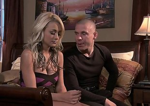 Fine looking blonde Briana Blair in high heels gives stunning enunciated to her follower groupie in the middle of a king size bed. They spend eventide enjoying enunciated sex in the bedroom.
