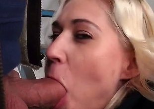 Blonde that goes by the name of Linda Ray is fucking nearby public. Shes gonna consent to down on her knees be useful to some sucky sucky and explosion sporadically this guy smashes her fanny relating to real fucking good