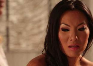 2 lesbian milfs, Asa Akira and Jessica Drake got together alone in a massage room, and they started undressing each other. That really lengths bring to to some fine ass, lesbian coition