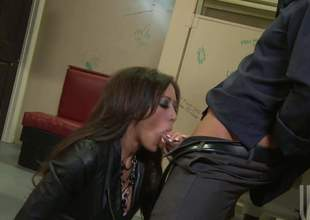 Gorgeous brunette Capri Cavali with flawless fake jugs gets their way soiled moist slit screwed amenable plus hard with their way patched fishnet pantyhose on. Watch prexy slattern get humped