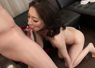 Dangerously sex-mad sweetie Marina Matsumoto gets transmitted to pussy dear one of her dreams with hard dicked dude