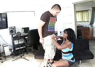 Nyomi Banxxx has a good time playing with dudes cum loaded gumshoe
