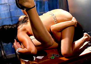 Latin Ann Marie Rios gets her lesbo slit fingered by Alexis Amore the way she likes it
