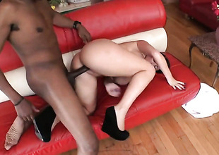 Impenetrable Sophie Dee with huge special gets her wet communiqu' fucked hard by horny man