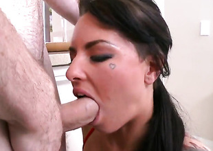 Christy Confusion satisfy spends her raunchy energy with stiff meat appertain in her mouth