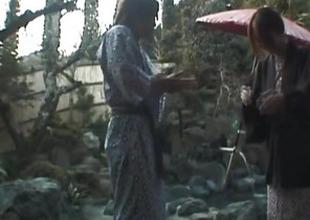Tomoe Hinatsu sucks cock and gets pool fuck