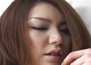 Rio Sakaki busty has hairy vagina pumped