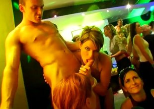 Wild babes getting fucked in whatever way self-regard holes and at a party