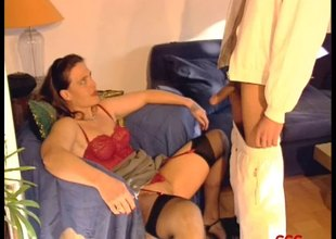 Duteous German bitches acquire arse drilled and fed semen