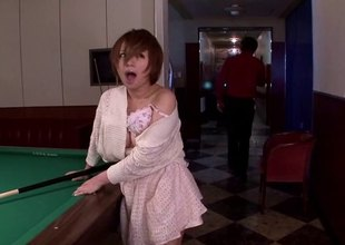 Redhead Japanese floosie having her muff throbbed hard in this compilation scenes