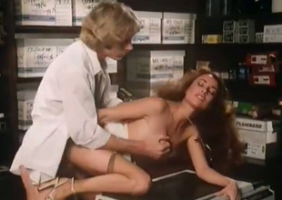 Hot office whore is having a nice sex on the xerox machine