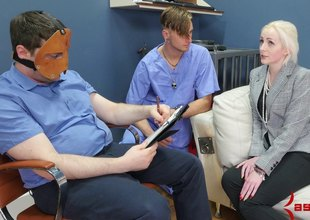 A blonde working at an Asylum lets burnish apply patients fuck will not hear of ass