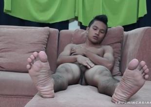 Faggoty Oriental Foot Fetish Small fry Nikos Jacking Off