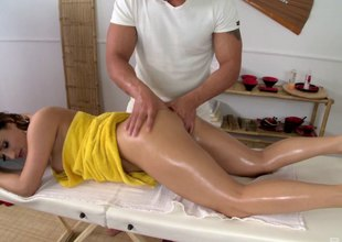 He finished off her rub down with a hard bore gender