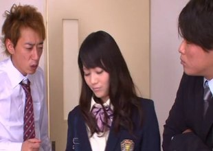 Eager Japanese college gal loves engulfing with the addition of riding a everlasting boners
