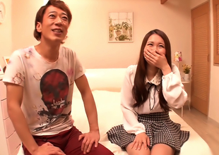 Yamaguchi Niina Gets Her Hairy Twat Drilled Approving