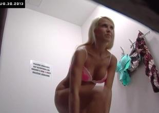 Czech Blonde Sweetheart Tries Broadly Underclothing