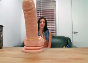 Amber Cox decided there more her dildo there work once