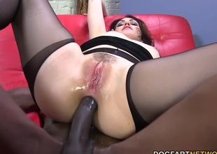 Sarah Shevon loves butt slam upon big black load of shit