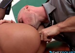 Large hard cock riding with horny babe Jasmine