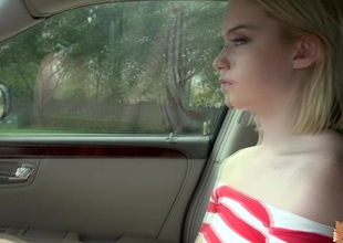Virginal blonde chick Chloe Couture gets flavour of the month up and group-fucked in the passenger car