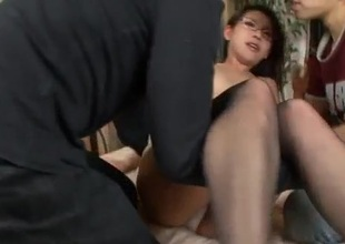 Mizuki Ogawa in Asian stockings trilogy porn