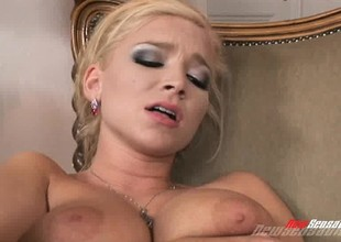 A pair of smoking hot golden-haired sluts make each other not sweetly