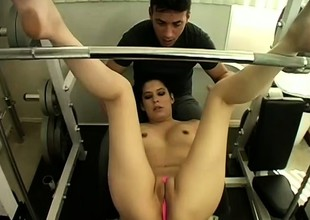 Jen Teal's smoulder butt bounces as that babe gets dicked from behind