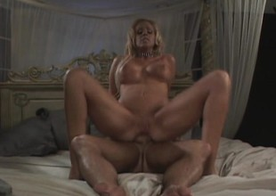 Bungle with gorgeous feet gets her ass pounded down to the drool