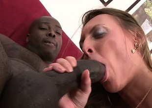 Cock emaciate uninspiring girl enjoys being fed by a stiff melancholic dick