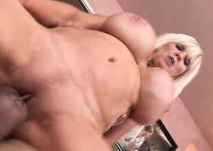 Scam as fuck blonde cougar acquires wild with a young man's tool