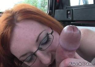 Obese dicked Obsolete horse-drawn hackney driver fucks redhead