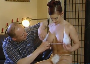This sexy red head foreigner Hungary has not any idea what she's object into. They strip off Esmeralda's clothes revelaing every single asset she has fro offer before two guys feed her their cocks. This babe takes their cocks deep in her mouth giving them a hot blowjob,
