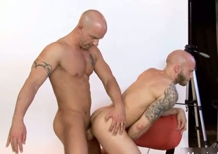 Amazing in one's birthday suit stud fucked deep in pain in the neck