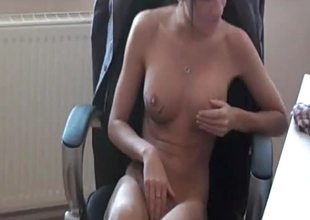 Hawt dilettante enchase acquires left-hand drilled by her boss