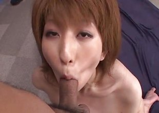 Amazing Rei Sasaki rides and sucks take a shine to a dominatrix