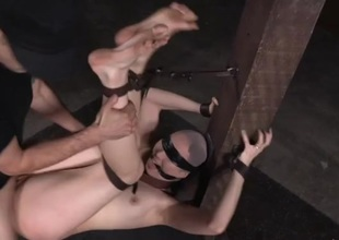Life cock slave fucked involving his dungeon