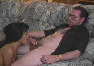 Oriental cunt munched and fucked by a white dude