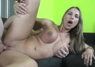 Two babes hither smoking hot fake tits get laid