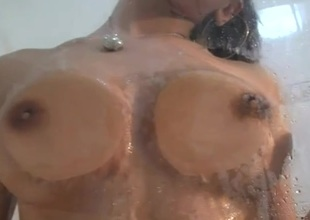Beautiful merry tits belle takes a sexy shower