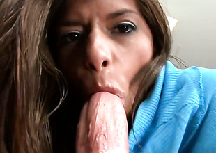 Madelyn Marie is a sting haired brunette floozy