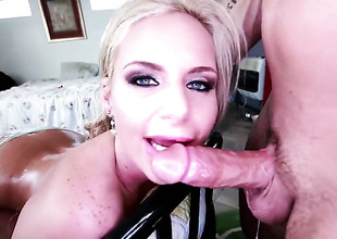 Phoenix Marie has in short order to receive some fun with individuals cock in her mouth