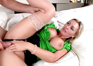 Blonde Tanya Tate has a great desire for cock sucking and Jordan Ash knows it